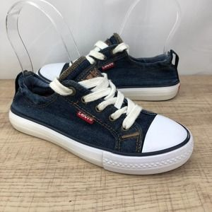 Levi's (2Y) Blue Unisex Denim Sneakers
